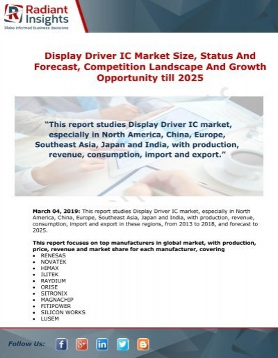 Display Driver IC Market Challenges, Opportunities, Trends
