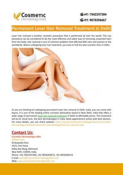 Permanent Laser Hair Removal Treatment In Delhi