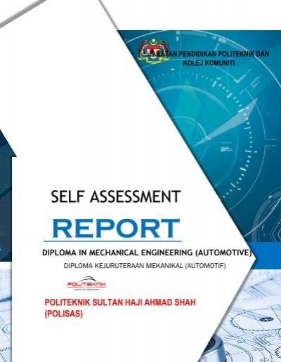 Sar Report For Diploma Mechanical Engineering Automotive Flip