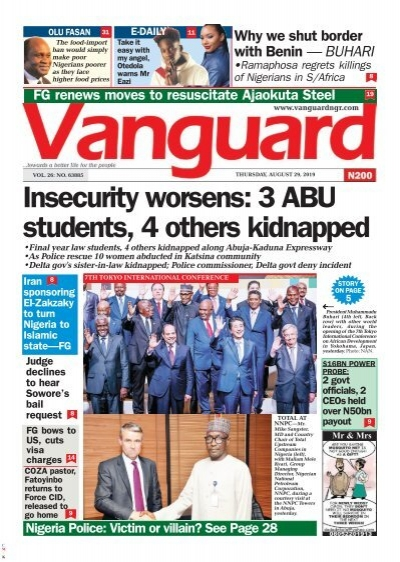29082019 Insecurity Worsens 3 Abu Students 4 Others Kidnapped
