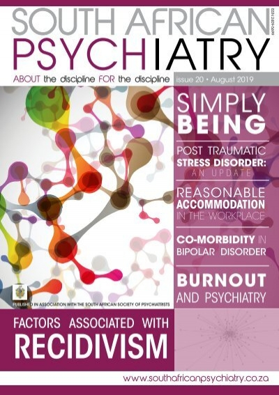 South African Psychiatry August 2019