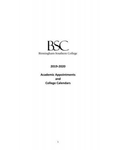 Uab Academic Calendar 2022.Bsc 2019 2020 Academic Calendar