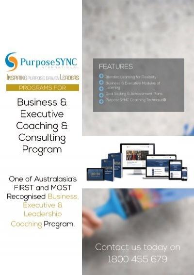 Information Brochure Business Amp Executive Coaching