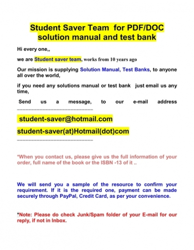 Full List Test Bank And Solution Manual 2020 2021 Student Saver Team Best Copy 2