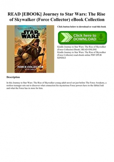 Read Ebook Journey To Star Wars The Rise Of Skywalker Force Collector Ebook Collection