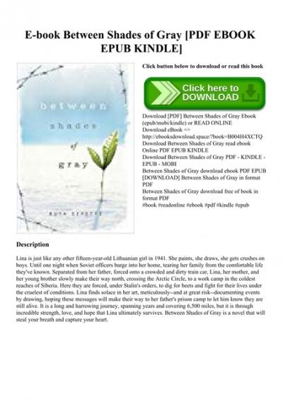 E Book Between Shades Of Gray Pdf Ebook Epub Kindle