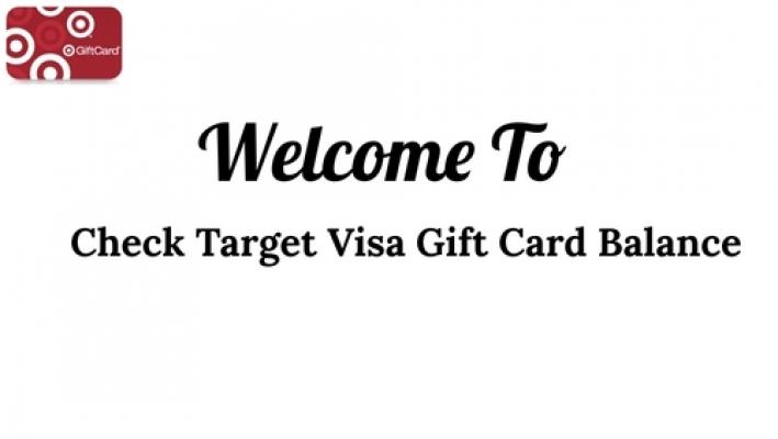 Check Target Visa Gift Card Balance Check MyBalanceNow