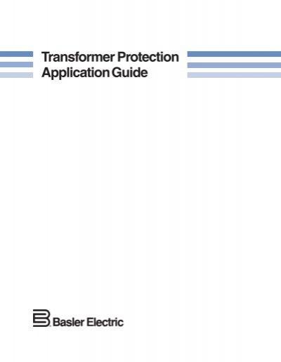 Transfguide transformer protection application guide.
