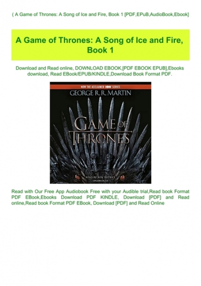 game of thrones book 1 ebook free download epub