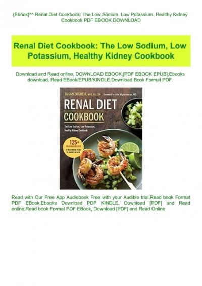 renal diet recipes book pdf