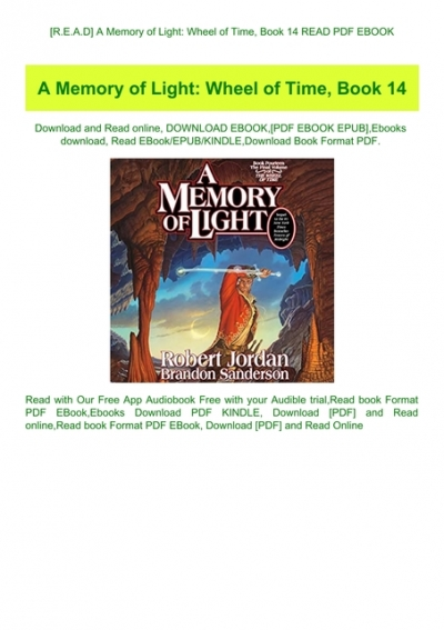 wheel of time a memory of light pdf free download