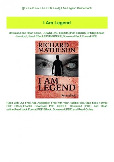 i am legend read online free