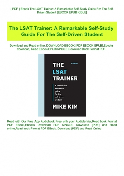 Lsat trainer free pdf the LSAT Books