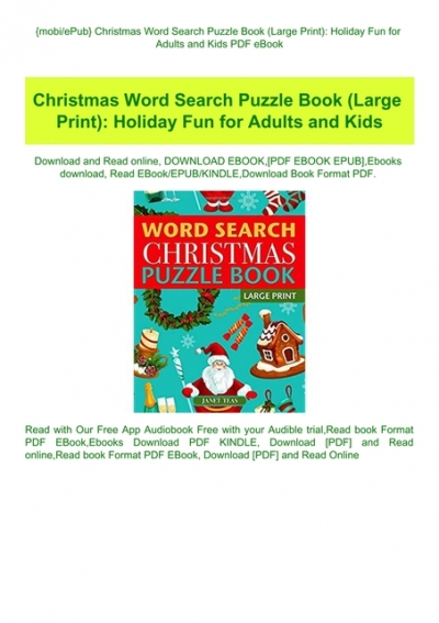 Mobiepub Christmas Word Search Puzzle Book Large Print Holiday Fun For Adults And Kids Pdf Ebook