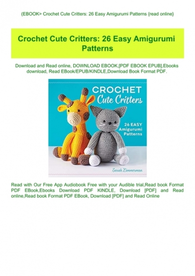 Crochet Animals: 11 Patterns of Cuttest Amigurumi and African ... | 567x400