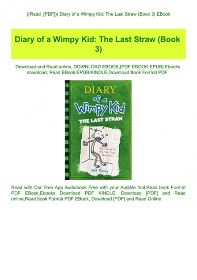 diary of a wimpy kid book 3 pdf free download