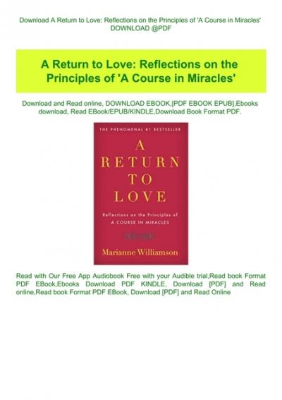 a return to love free pdf book