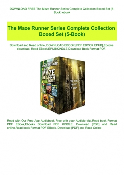 the maze runner trilogy pdf free download
