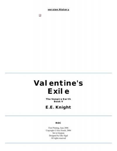 Vampire Earth 05 Valentine S Exile Pdf