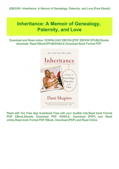 Inheritance A Memoir Of Genealogy Paternity And Love Review