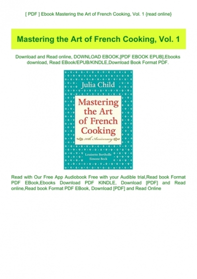 mastering the art of french cooking free download pdf