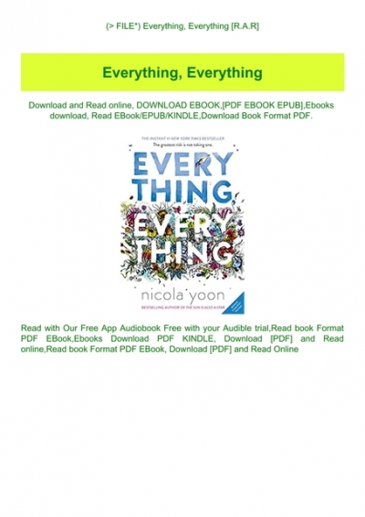 everything everything book online free download