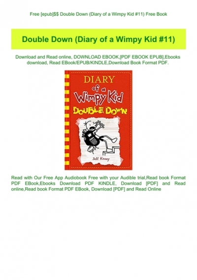 Free Epub Double Down Diary Of A Wimpy Kid 11 Free Book