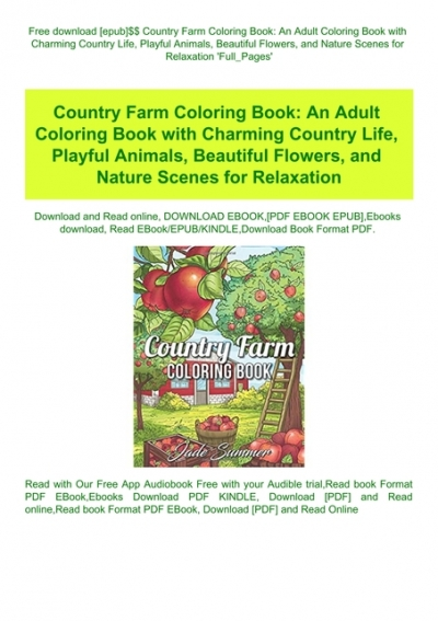Best Adult Coloring Pages to Print Featuring Country Scenes and ... | 567x400