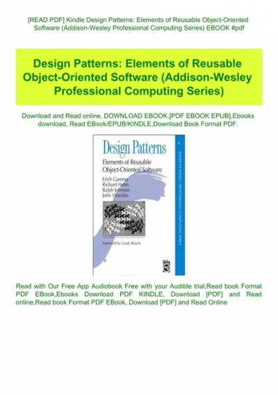 Read Pdf Kindle Design Patterns Elements Of Reusable Object Oriented Software Addison Wesley Professional Computing Series Ebook Pdf