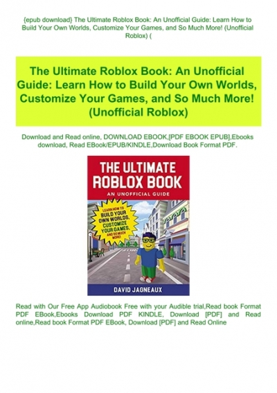 Epub Download The Ultimate Roblox Book An Unofficial Guide Learn