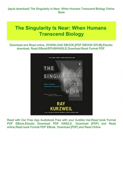 the singularity is near epub download free