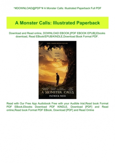 a monster calls book pdf free download