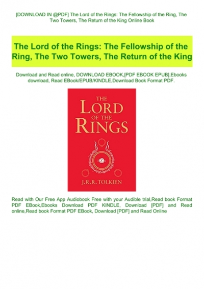 the two towers book online free pdf