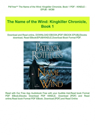 the name of the wind epub download free