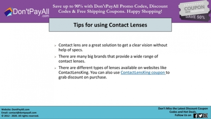 Contact Lens King Coupon For Best Discounts
