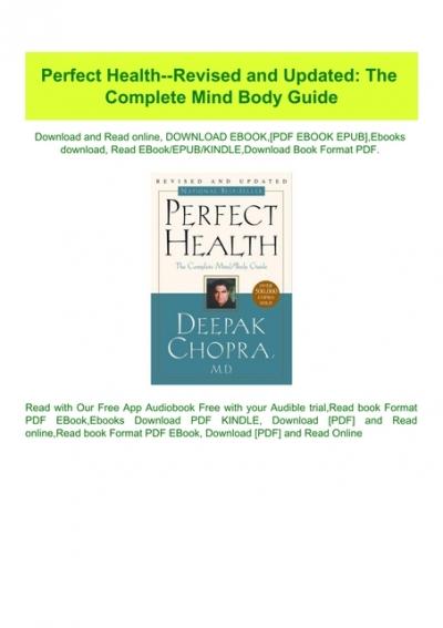 perfect health diet pdf download