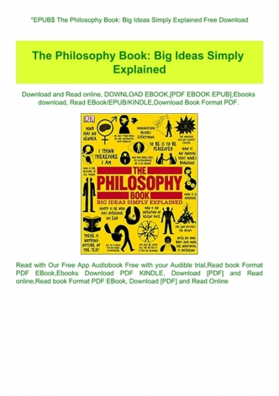 the philosophy book big ideas simply explained pdf free
