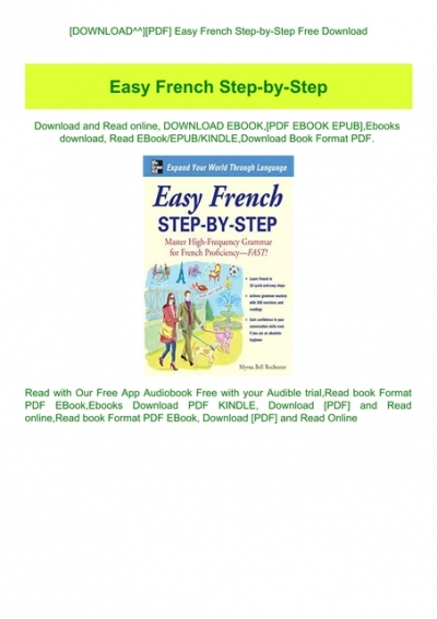 easy french step by step free ebook download