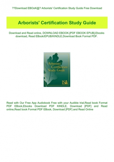 arborist certification study guide free download