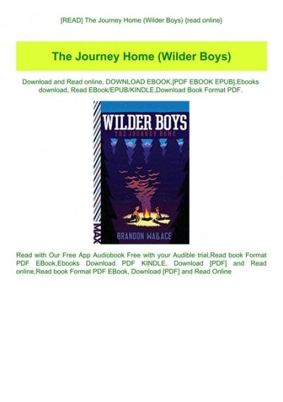 Read The Journey Home Wilder Boys Read Online