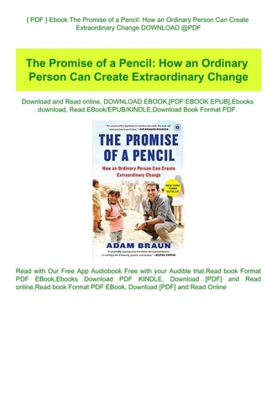the promise of a pencil pdf free download