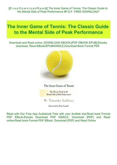 the inner game of tennis epub free