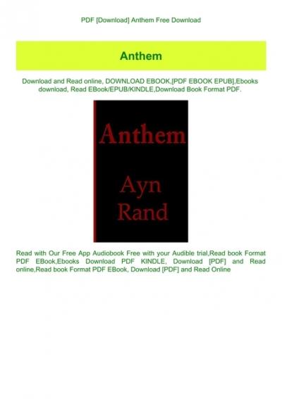 Pdf Download Anthem Free Download