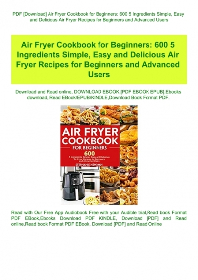 Pdf Air Fryer Cookbook For