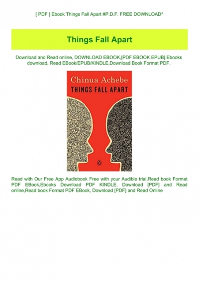 Pdf Ebook Things Fall Apart P D F Free Download