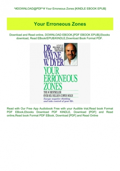 dr wayne dyer your erroneous zones free download pdf