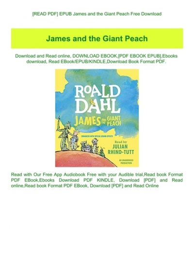 james and the giant peach ebook free download