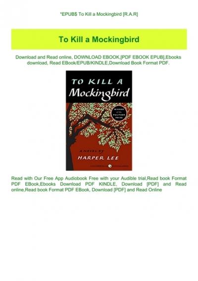 to kill a mockingbird free ebook mobi