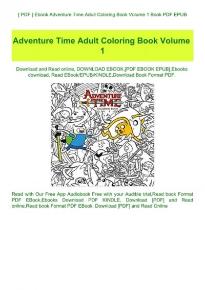 PDF ] Ebook Adventure Time Adult Coloring Book Volume 1 Book PDF EPUB