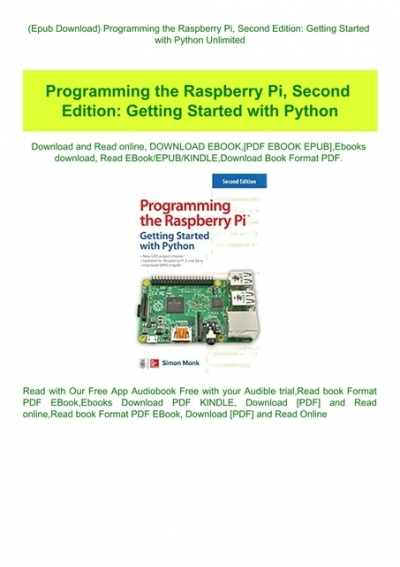 Epub Download Programming The Raspberry Pi Second Edition Getting Started With Python Unlimited